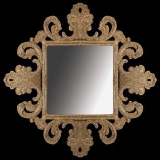 M-518-GOLD BB Simon Gold Diamond Framed Mirror