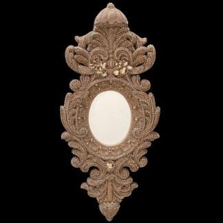M-527-BB Simon Gold Framed Swarovski Mirror