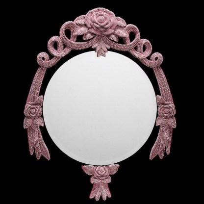 M-532-LT.Rose BB Simon Sparkling Rose Custom Mirror