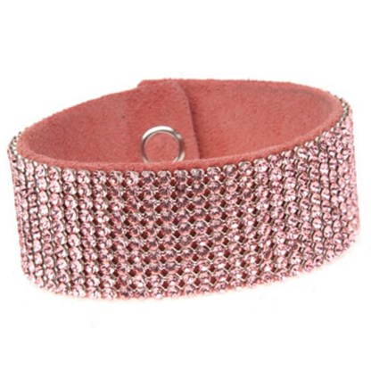 MESH CUFF-10ROW-LT.ROSE