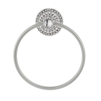 TR-100-Clear B.B.SIMON  Clear Swarovski Crystakl Chrome Towel Ring