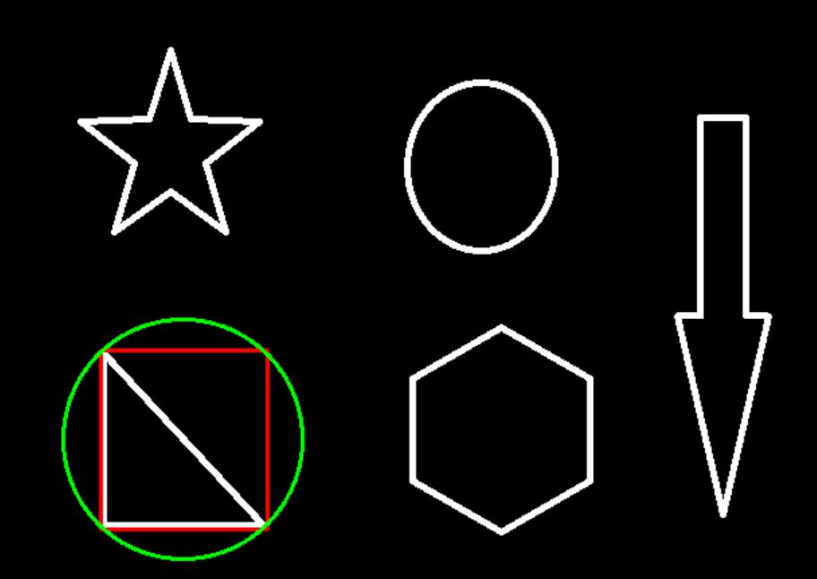 機器學習進階-圖像金字塔與輪廓檢測-輪廓檢測 1.cv2.cvtColor(圖像顏色轉換) 2.cv2.findContours(找出圖像的輪廓) 3.cv2 ...