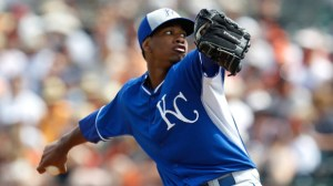Yordano Ventura. Sarah Glenn/Getty Images