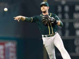 Jed Lowrie. Getty Images.