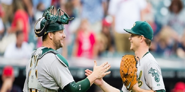 first half, A's, Stephen Vogt, keep Gray, Sonny Gray