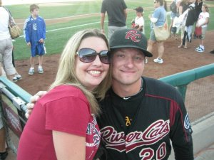 Josh Donaldson and me in 2010.