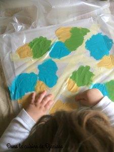 Peinture propre, du bout des doigts