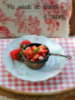 Salade de fraises pour bébés dès 6 mois