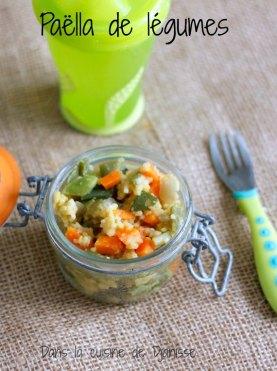 Paella de légumes pour bébés