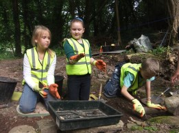 Having fun at the Brecon Beacons Young Archaeologists' Club