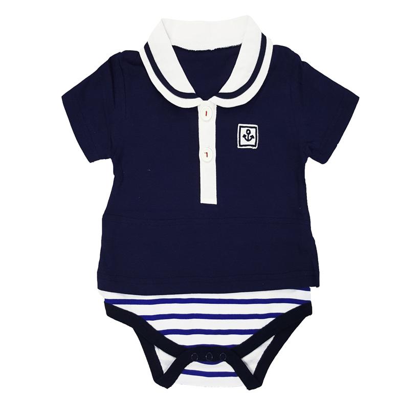 2d942370035 Online Baby Wear - Blue Sailor Shirt Romper