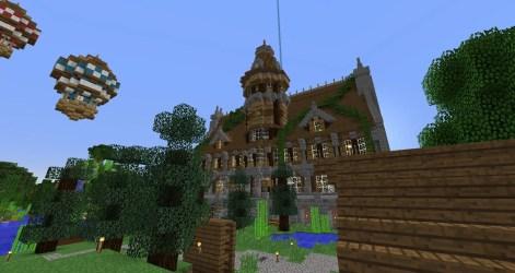 Minecraft town hall interior