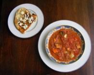 Gazpacho and Gorgonzola Toast