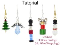 Christmas Earrings Beading Tutorial