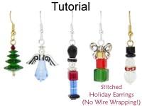 Christmas Earrings Beading Tutorial - Easy Beginner ...
