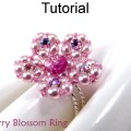Pattern ring crystal stretch flower jewelry simple bead patterns