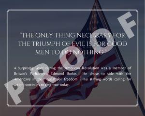 Edmund Burke Freedom Quote Art Print
