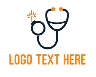 stethoscope bomb logo