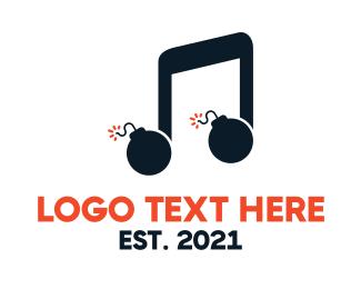music bomb logo