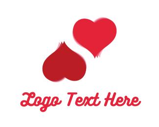 two love hearts logo