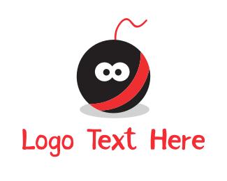 bomb cartoon mascot logo