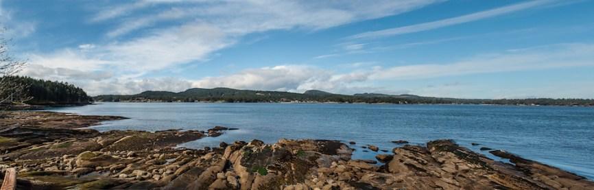 Active Pass from Georgina Point on Mayne Island. © Photos by Pharos 2014.