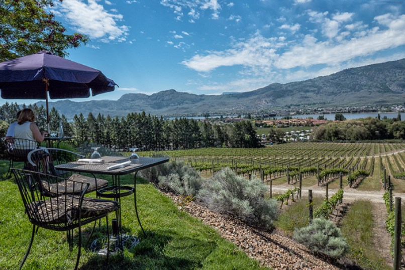 Nk'mip's terrace at Spirit Ridge, Osoyoos. © Photos by Pharos 2017
