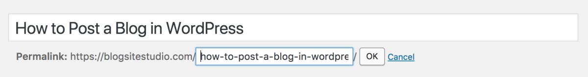 wordpress permalink slug