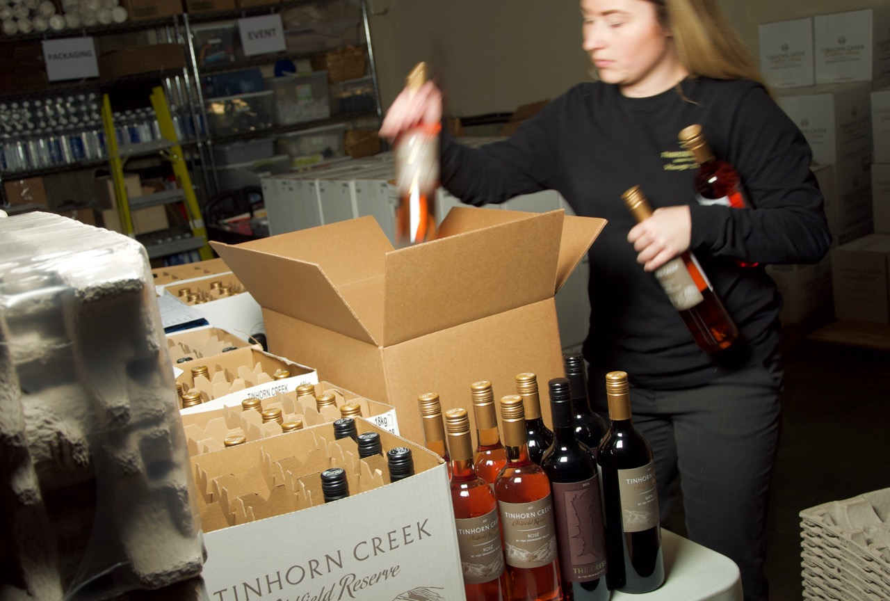 Jessica packing rose wine clubs