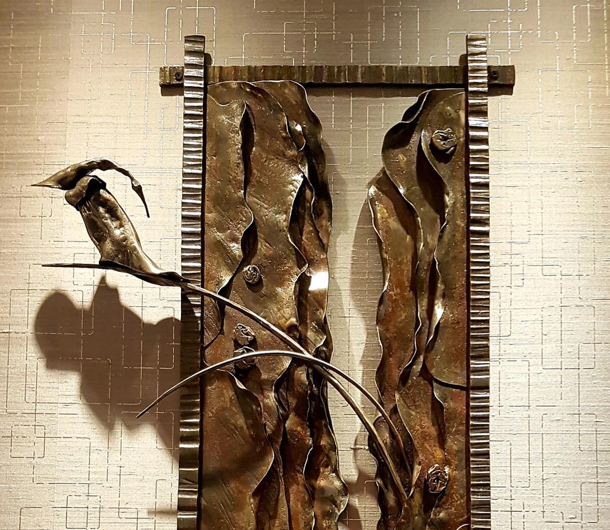 wrought iron ornamental sculpture