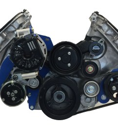 15 00151 serpentine kit for coyote for early bronco engine brackets and pulleys bc broncos [ 1064 x 774 Pixel ]