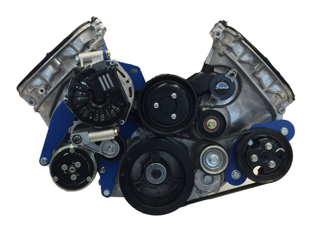 medium resolution of 15 00151 serpentine kit for coyote for early bronco engine brackets and pulleys bc broncos