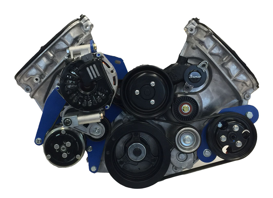 hight resolution of 15 00151 serpentine kit for coyote for early bronco engine brackets and pulleys bc broncos