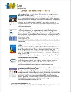 TIGI Gender Transformative resource image