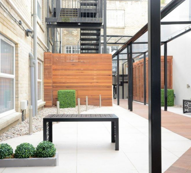Outdoor terrace design in London