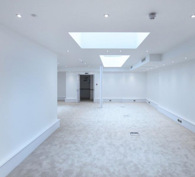 Commercial office renovation with light wells in Marylebone, London