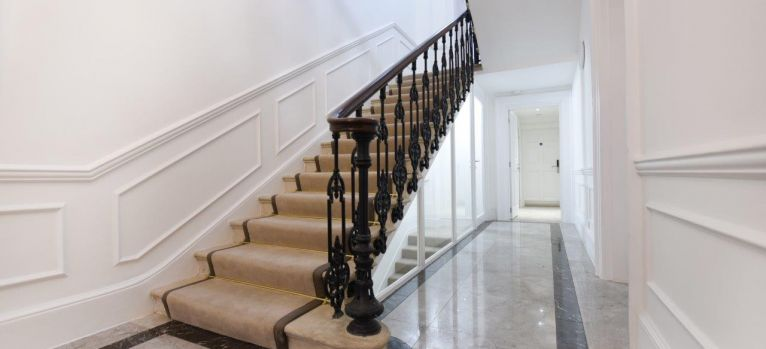 Restored grade II staircase