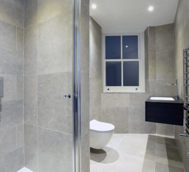Mayfair Apartment en suite renovation by Brompton Cross Construction