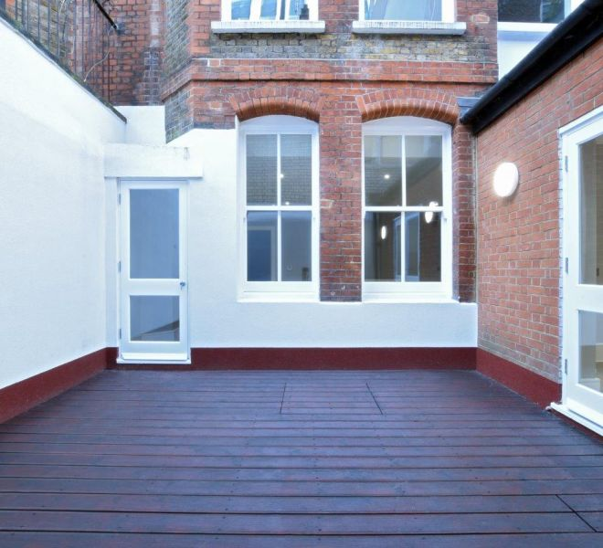 London property rear courtyard refurbishment