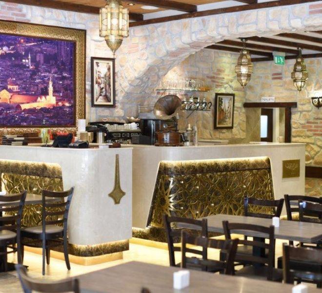 Restaurant renovation in Shepherds Bush with bespoke Marble serving bar