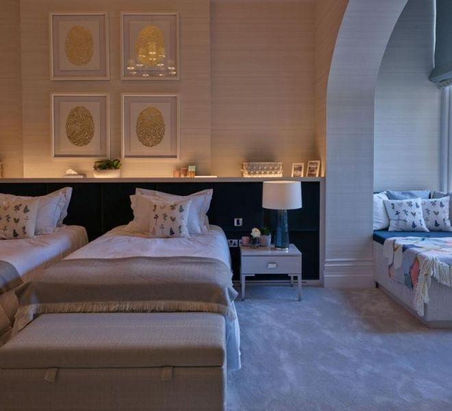 Kensington fully furnished twin bedroom design