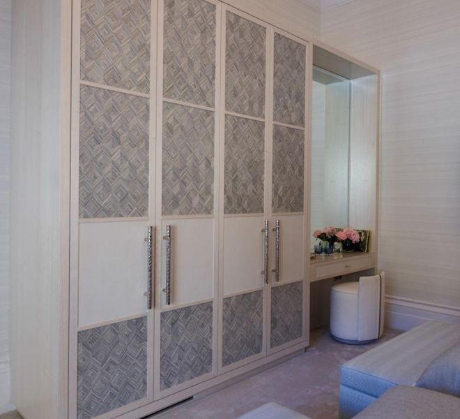 Bespoke high end joinery wardrobes by Brompton cross construction