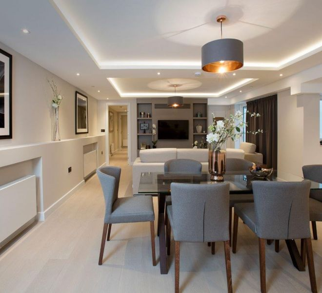 Stafford place living room design in london
