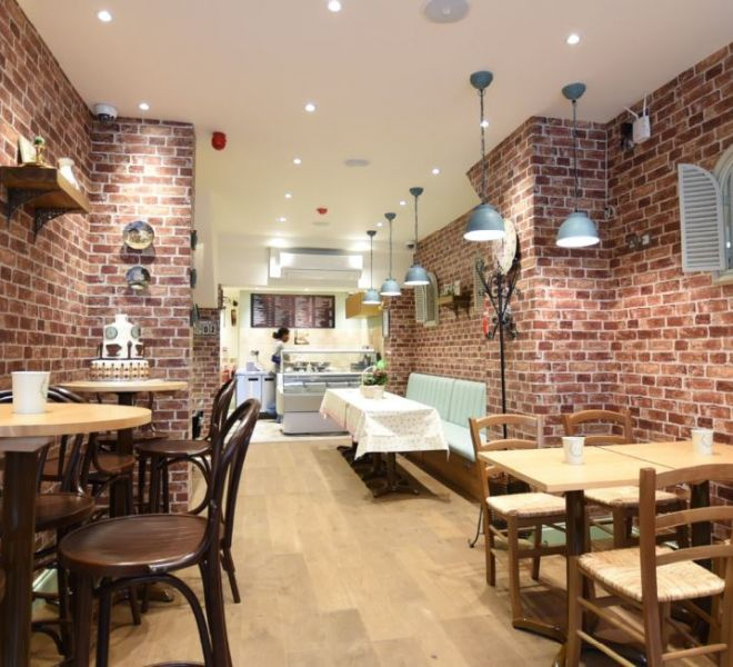 Deli Cafe interior design in Putney London