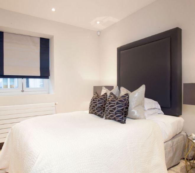Parisian Penthouse bedroom design Brompton Cross Construction