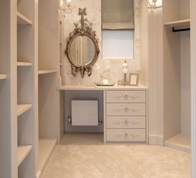 Dressing room walk in wardrobe bespoke joinery company