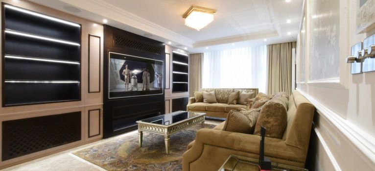 London living room designers bespoke joinery media unit