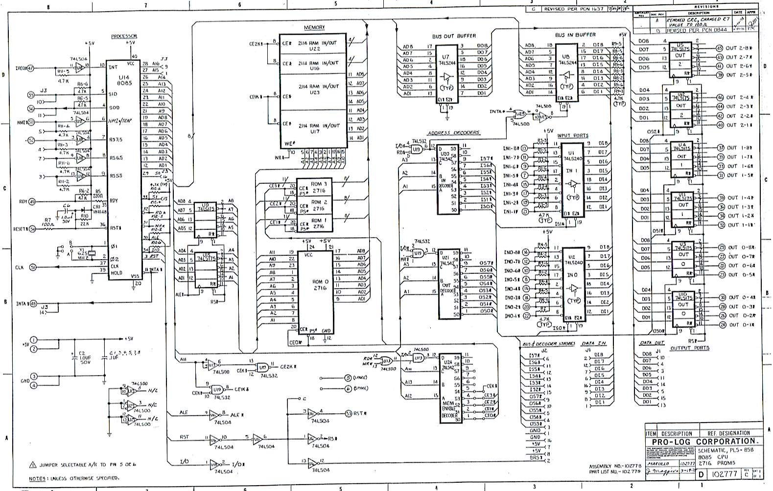 Prolog PLS858 SBC Schematic