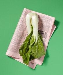 Избавьтесь от запаха в холодильнике, переложив овощи газетами.