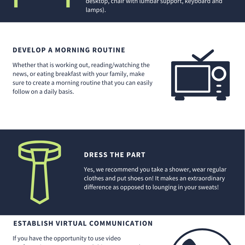 BCE consulting work from home inforgraphic